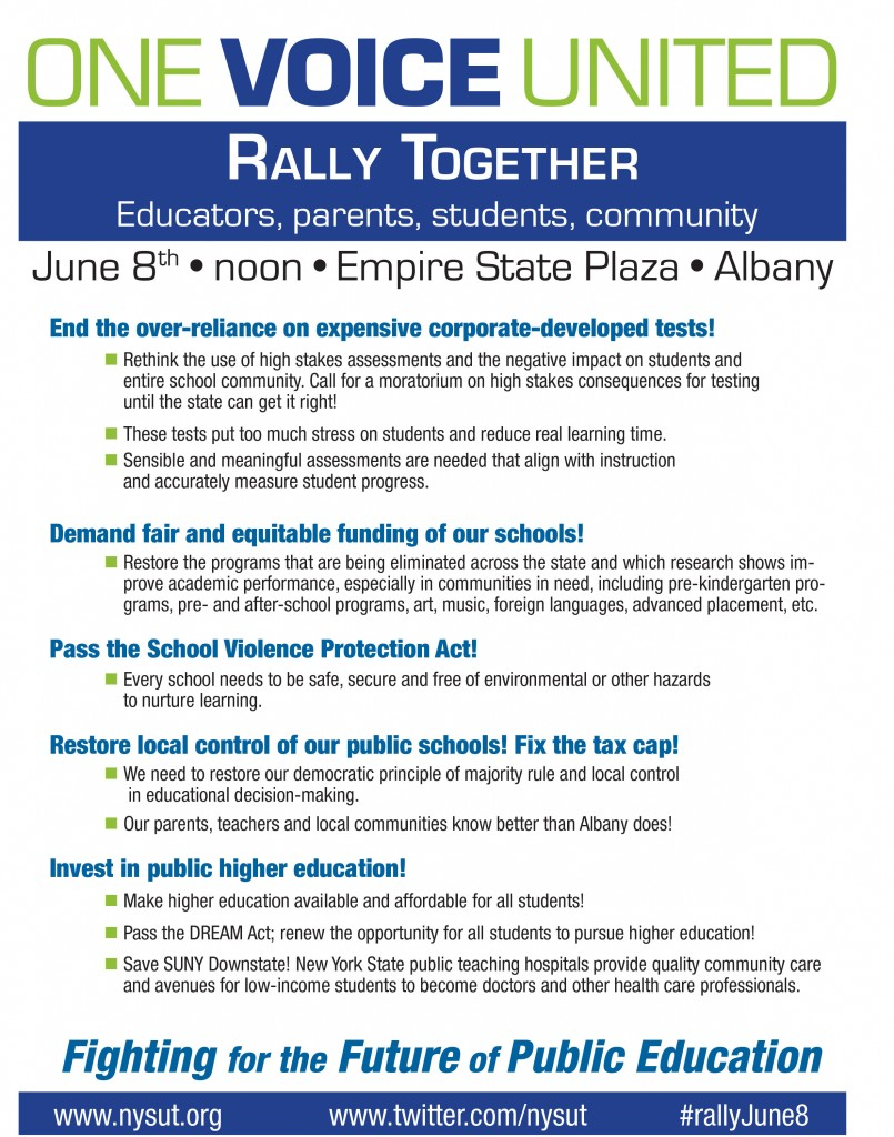 NYSUT Rally in Albany @ Albany | New York | United States