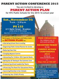 parent action conference november 7 2015 small flyer class size